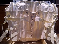 Vintage Steampunk Goth Camp Surgical Corset by maggiecastillo, $50.00