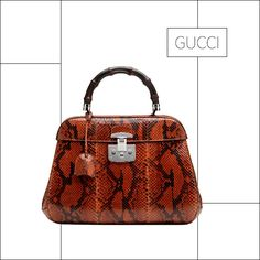 Gucci FW Lady lock in pitone rosso Fall Handbags, Best Handbags, Gucci Handbags, Fashion Handbags, Tote Handbags, Fashion Bags, Gucci Bags, Fashion Trends, Gucci Gucci
