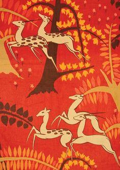 Poiret textile design reproduced by Schumacher Fabrics Textiles, Textile Patterns, Textile Prints, Textile Design, Fabric Design, Print Patterns, Paul Poiret, Art Nouveau, Conversational Prints