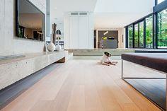Modern Home in Oakville Ontario modern living room
