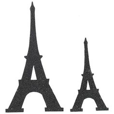 Black Glitter Eiffel Tower Cutout