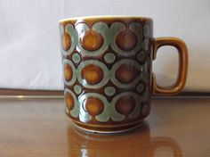 As Found Rare Retro Hornsea Bronte Mug John Clappison 1976 A/F