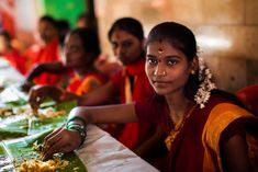 """""""Mumbai, the biggest city of India, hosts ethnic groups from all over the country. She is a Tamilian, at a celebration, after 40 days of fasting."""""""