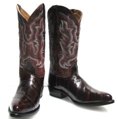 Women's Cowboy Boots Vintage 1970s Morgan Miller Blue Leather ...