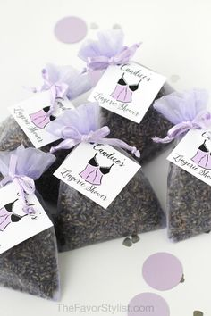 Seems like you've been planning this shower forever! Finally ready to celebrate the bride-to-be? Make sure you have the perfect favors for your guests! These pretty sachets with soothing lavender are our favorite fragrant gifts for bridal showers and lingerie parties. Click to see how we can personalize with your custom details! #lingerieparty #lavender #favors #bridalshower #partyfavors Lingerie Shower Cookies, Lingerie Shower Games, Lingerie Party, Lavender Buds, Lavender Sachets, Tea Favors, Party Favors, Bridal Shower Favors, Bridal Showers