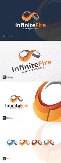 Infinite Fire - Logo Template AI, EPS