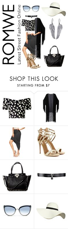 """Grey skirt"" by tedegirl on Polyvore featuring Miss Selfridge, WithChic, Aquazzura, Fallon, Karl Lagerfeld, Pilot and Lucky Brand"