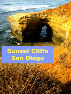 Natural Arch, Sunset Cliffs, Point Loma, San Diego, California