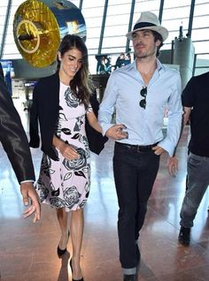 Nikki Reed and Ian Somerhalder leaving Cannes on way to catch plane to Paris (5/23/15)
