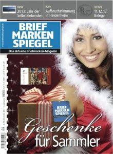 Out now: http://briefmarkenspiegel.com/web/2013/11/29/inhalt-der-ausgabe-dezember-2013/