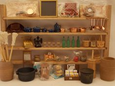 Dollhouse General Store Shelves Full of Accessories   eBay