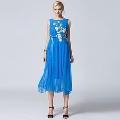 Find More Dresses Information about QEJIN 2015 FASHION EMBROIDERY DRESSESS GENUINE 100% SILK LONG DRESSES PLEATED WITH BELT GIRL'S DRESSES PLUS SIZES,High Quality dress jumpsuit,China dress singers Suppliers, Cheap dress luxury from Sharewin Fashion(QEJIN) Co.,ltd on Aliexpress.com