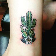 My cactus tattoo! By Sarah at Fateless tattoo i. - My cactus tattoo! By Sarah at Fateless tattoo in queen creek az cl - Trendy Tattoos, Popular Tattoos, Cute Tattoos, Flower Tattoos, Body Art Tattoos, New Tattoos, Tattoos For Women, Skull Tattoos, Tatoos