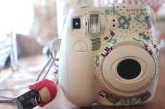 washi tape on instax