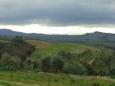 View over #Tuscany hills to #volterra amazing sky http://la-fiaba.com