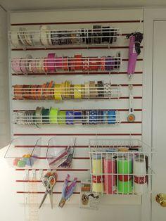 Craft Room Ribbon Organization