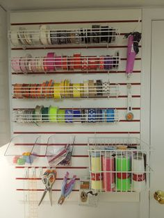Craft Room Ribbon Organization