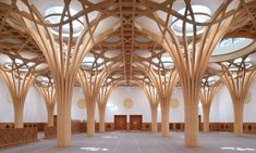 Architecture Today, Timber Architecture, Mosque Architecture, Architecture Design, Tree Structure, Timber Structure, Building Structure, Parametrisches Design, Roof Design
