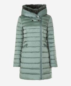 f3614d86b6 Slim fit down jacket with fur - Jackets - Woman Fur Jackets