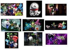 9 Luigi's Mansion Stickers, Mario, Favors, Gifts, Labels, Party Supplies