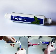 Two-Way Toothpaste | 20 Odd Inventions That Might Secretly Be Awesome