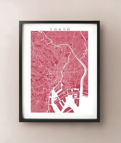 Tokyo Map by CartoCreative on Etsy, $20.00