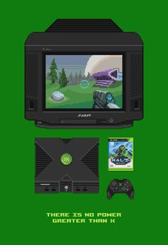 "wilwheaton: ""retronator: "" A great lineup of pixel art computers and video game consoles by Mazeon. For more see Mazeon's Artist Feature from earlier today. Retro Video Games, Video Game Art, Xbox Games, Fun Games, Pixel Art Gif, Playstation, Arcade, Halo Master Chief, Nintendo"