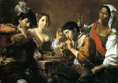 Valentin De Boulogne Musician and Drinkers France (c. 1625) Oil on canvas, 95 x 133 cm Musée du Louvre, Paris [x]