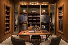 His closet ideas from this retail space... Evan Joseph Photography