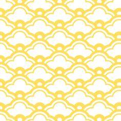 matsukata in citrine fabric by chantae on Spoonflower - custom fabric    #lemonzest