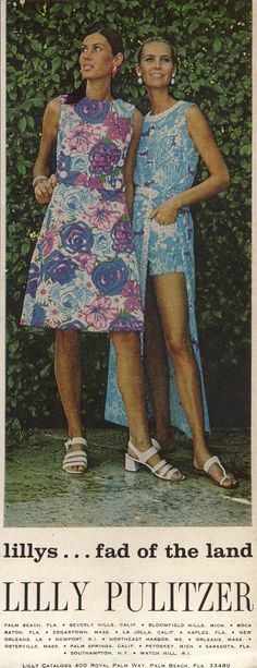 Lilly Pulitzer ad from 1978. A Lilly is a classic!