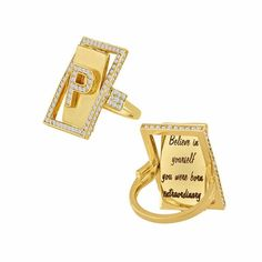 Diamond Initial Flip Ring – Eden Presley Fine Jewelry
