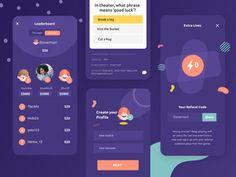 Browse thousands of Quiz Mobile App Design images for design inspiration | Dribbble Quiz Design, App Ui Design, Mobile App Design, User Interface Design, Game Design, Motion App, Mobile App Ui, Ui Design Inspiration, Behance