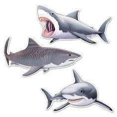 Shark Cutouts 12 Packs