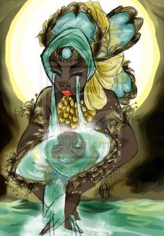 Yeye Osun West African Water Mother Osun who symbolizes the birth and maintenance of a noble compassionate beautiful earth and waters.