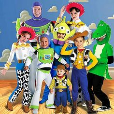 Toy Story group costumes - @Kristi Smith we could ask my friend carly to crochet some stuff. but we could prob make these! lol