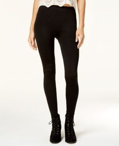 Ultra Flirt Juniors' Fleece-Lined Leggings - Black L/XL