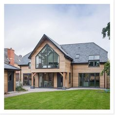 We absolutely love this house! Josh and Nathalie Cherry built this wonderful Potton self-build house in Devon in Bungalow Extensions, House Extensions, Bungalow Exterior, Dream House Exterior, Home Building Design, Building A House, Style At Home, House Plans Uk, House Cladding