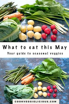 Want to eat with the seasons? This guide to seasonal vegetables in May will help you to eat with the seasons. With over 30 recipe suggestions included. #seasonal #seasonalvegetables #may #spring #eatmoreveggies Kinds Of Vegetables, Veggies, Vegetable Side Dishes, Vegetable Recipes, Healthy Meals For Kids, Kids Meals, Vegetarian Dinners, Vegan Meals, 30 Recipe
