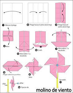 molino papiroflexia facil - Buscar con Google