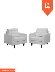 Empress Armchair Set of 2 in White (EEI-1282-WHI)  $880 + Free Shipping* + No sales tax http://www.likemodern.com/products/empress-armchair-set-of-2-in-white-eei-1282-whi.html#.U55hMyhdBOM