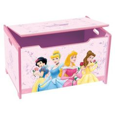 Delta Childrens Products Disney Princess Pretty Pink Toy Box