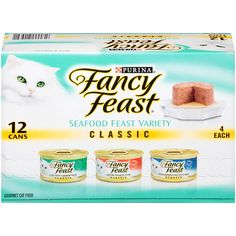 Purina Fancy Feast Wet Cat Food, Classic, Seafood Feast Variety Pack, 3-Ounce Can, Pack of 12 > For more information, visit now : Best Cat Food