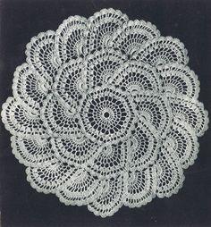 Vintage Crochet Knitting Motif Patterns Tablecloth Doily Luncheon Sets Place Mat   eBay.