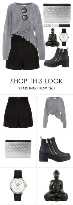 """""""Untitled #1252"""" by andreiasilva07 ❤ liked on Polyvore featuring RED Valentino, Balenciaga, Proenza Schouler, River Island, Zadig & Voltaire, NARS Cosmetics and Gucci"""