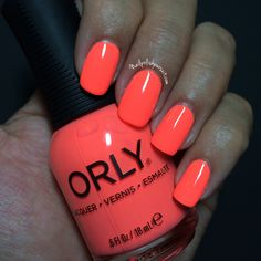 Push The Limit By Orly Adrenaline Rush Summer 2017 Collection Peach Nail Polish