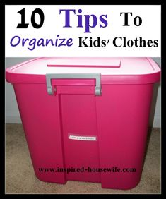 Organize Kids Clothes as they outgrow them