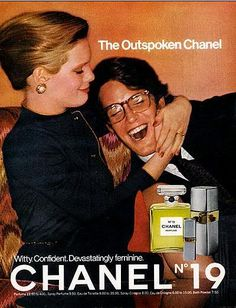 Witty. Confident. Devistatingly feminine. 1976 Chanel No. 19 Ad