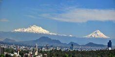 CIUDAD DE MÉXICO GALERÍA DE FOTOS | serunserdeluz Los Volcanes (Popocatépetl e Iztaccíhuatl) vistos desde la Ciudad de México