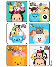 Sticker Pack - Disney Tsum Tsum Square - 90 ct